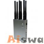 6 bands GPS L1 L2 L3 L4 L5 Lojack WIFI 2.4Ghz 11bgn Bluetooth Portable GPS Jammer CTS-JG6 1