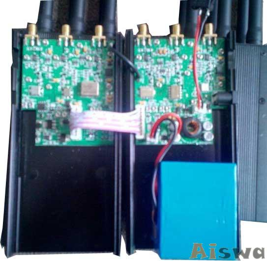 Portable selectable CellPhone 3G GPS and LoJack Jammer with High Capacity Battery 5