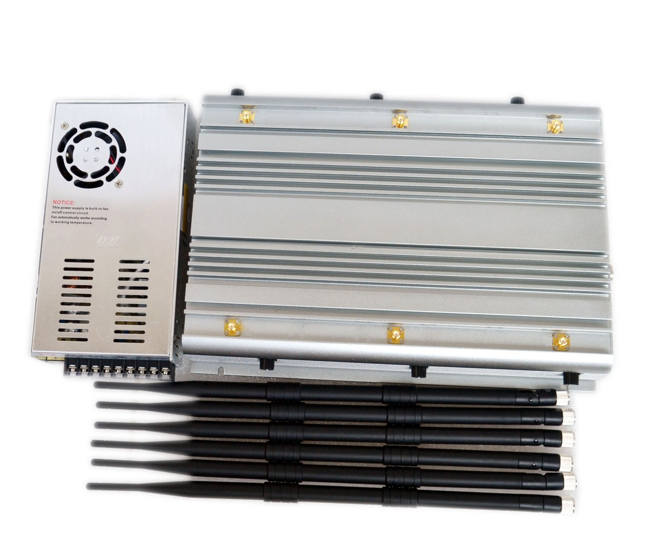Adjustable 70W Powerful Jammer 2G 3G 4G Phone Jammer for 100